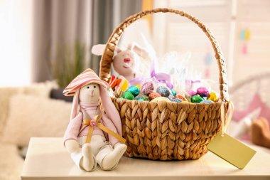 colorful easter basket