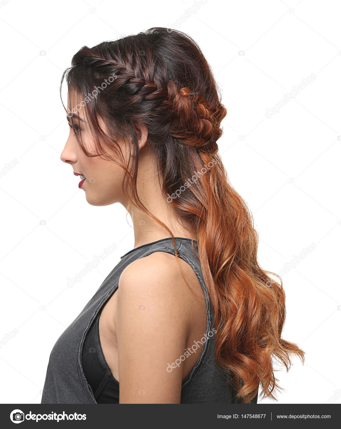 Fotos Peinados Modernos Mujer Con Peinado Moderno Foto De Stock