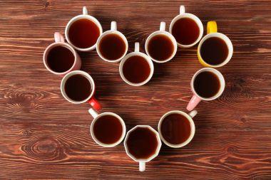 Delicious tea in cups