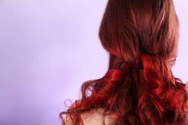 young woman with dyed hair