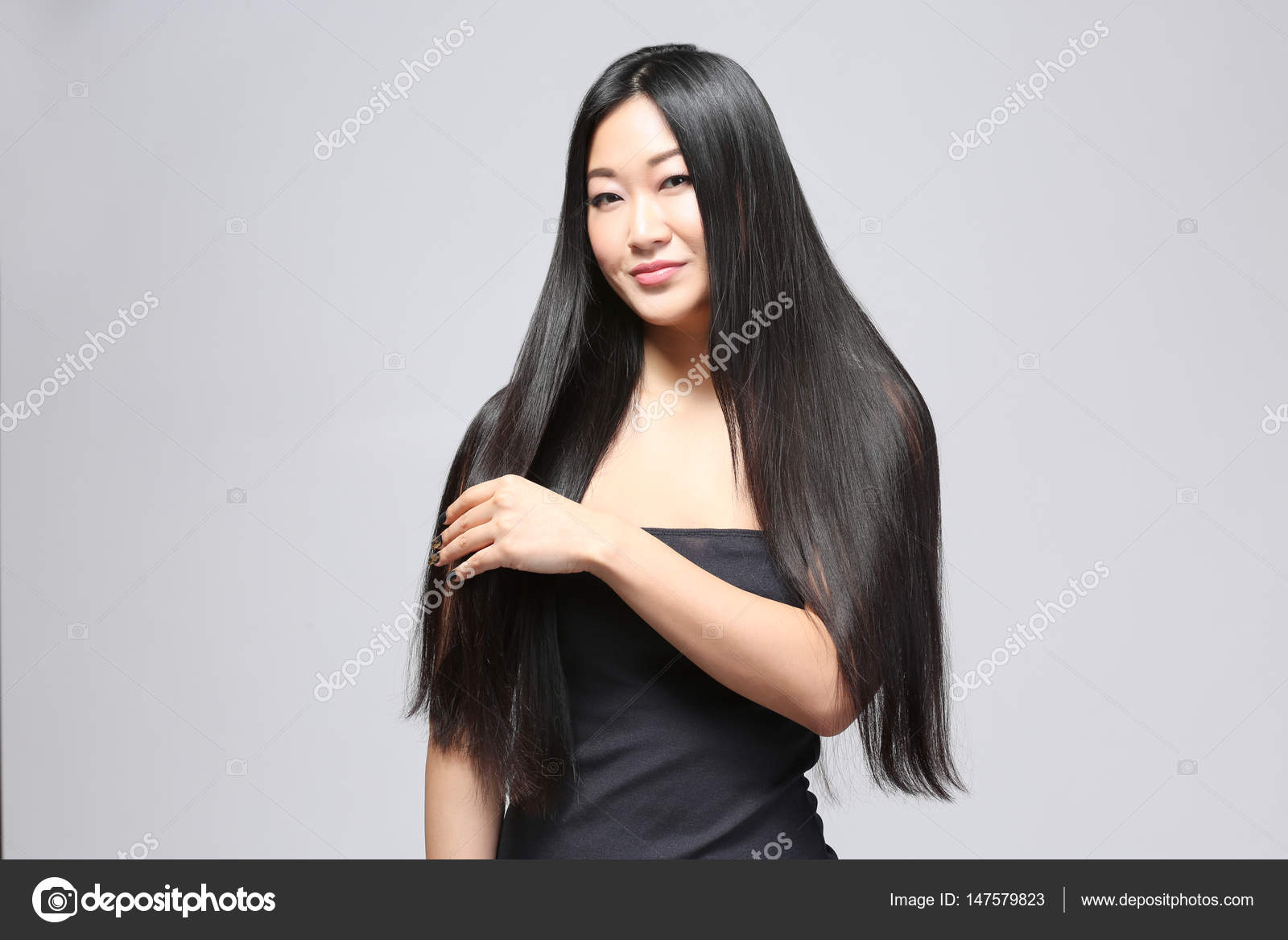 Asian Woman With Long Hair Stock Photo C Belchonock 147579823