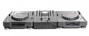 Dj mixer in nightclub