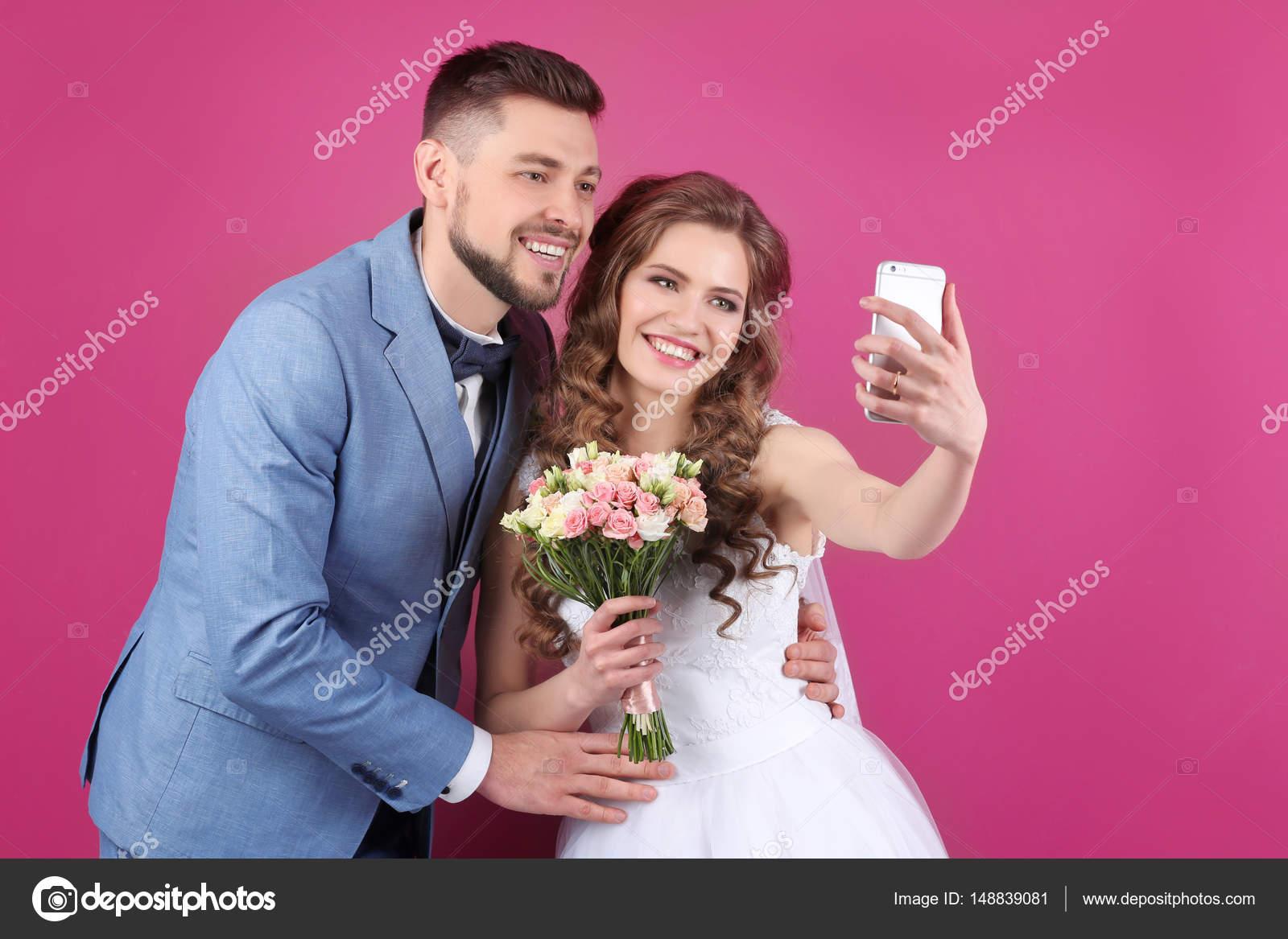 pareja boda feliz — Fotos de Stock © belchonock #148839081
