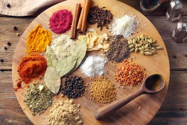 different aromatic spices