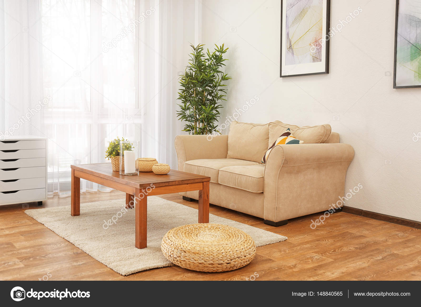innere wohnzimmer — Stockfoto © belchonock #148840565