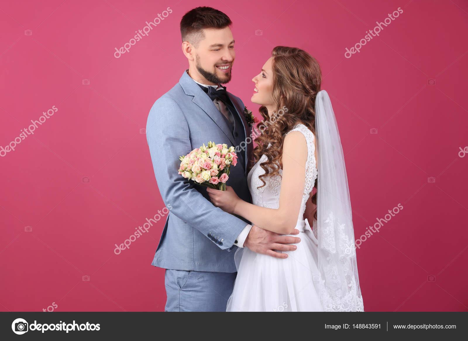 pareja boda feliz — Fotos de Stock © belchonock #148843591