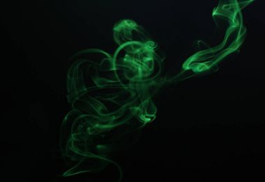 Swirl of green smoke