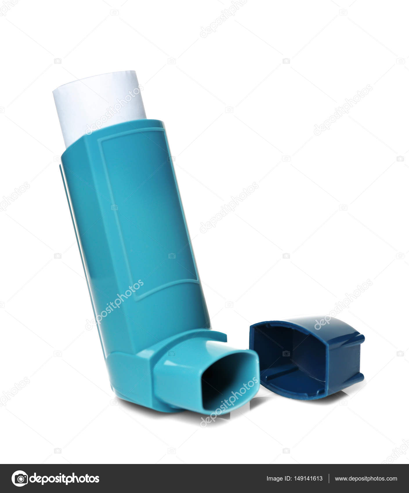 blå astma inhalator
