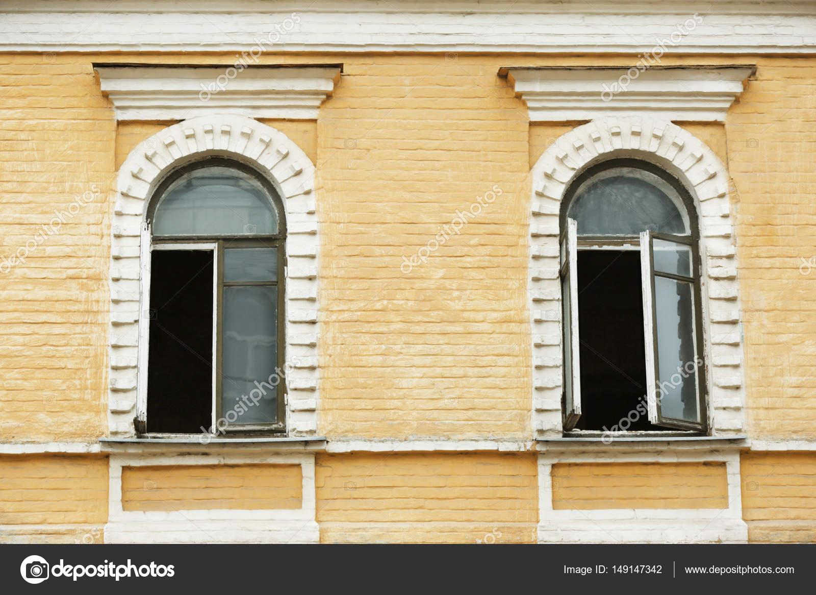 vintage arched windows — Stock Photo © belchonock #149147342
