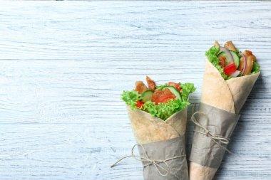 Tasty kebab rolls
