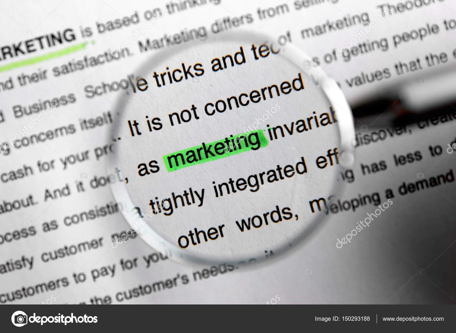Plantilla del concepto de marketing — Foto de stock © belchonock ...