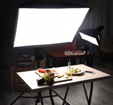 Interior of photo studio