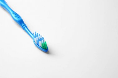 New toothbrush on white