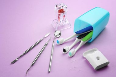 Dental instruments and set for teeth treatment