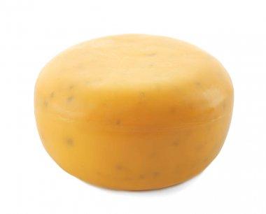 Tasty cheese on white