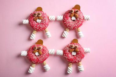 Creative glazed donuts