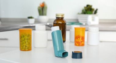 Asthma inhaler and medications