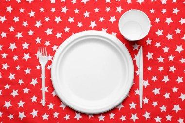 plastic disposable tableware