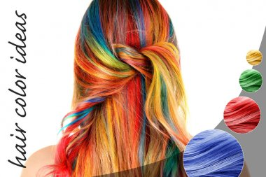 woman with colorful dyed hair