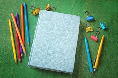 Notebook and different stationery