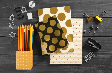 Notebooks and different stationery