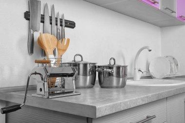 Different utensils in kitchen