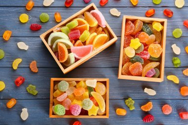 Composition of tasty jelly candies