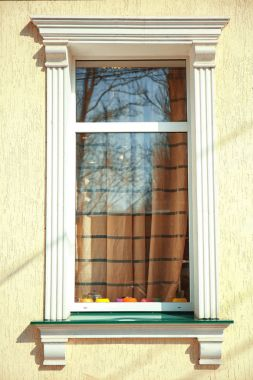modern plastic window