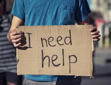 Man begging for help