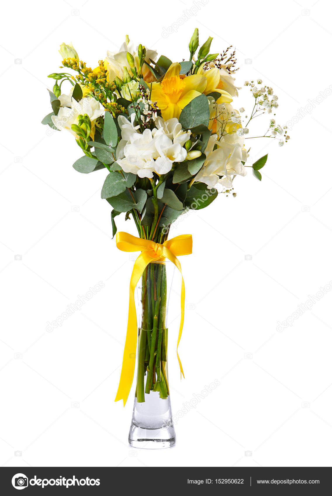 Beautiful bouquet with freesia flowers stock photo belchonock beautiful bouquet with freesia flowers on white background photo by belchonock izmirmasajfo