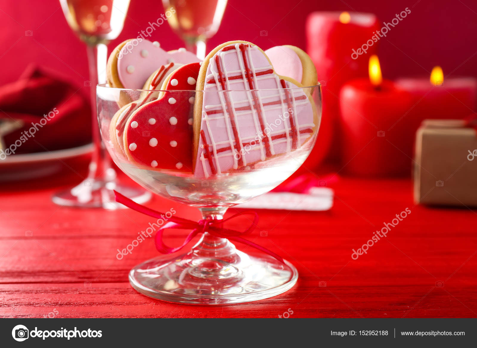Glass vase with heart shaped cookies stock photo belchonock glass vase with heart shaped cookies stock photo reviewsmspy