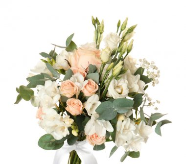 Beautiful bouquet with freesia flowers