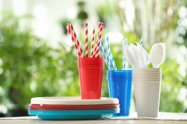 Plastic ware outdoors