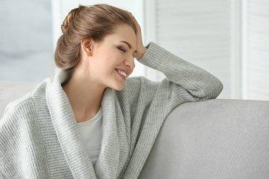 Beautiful young woman resting