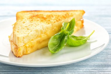 Tasty sandwich with cheese