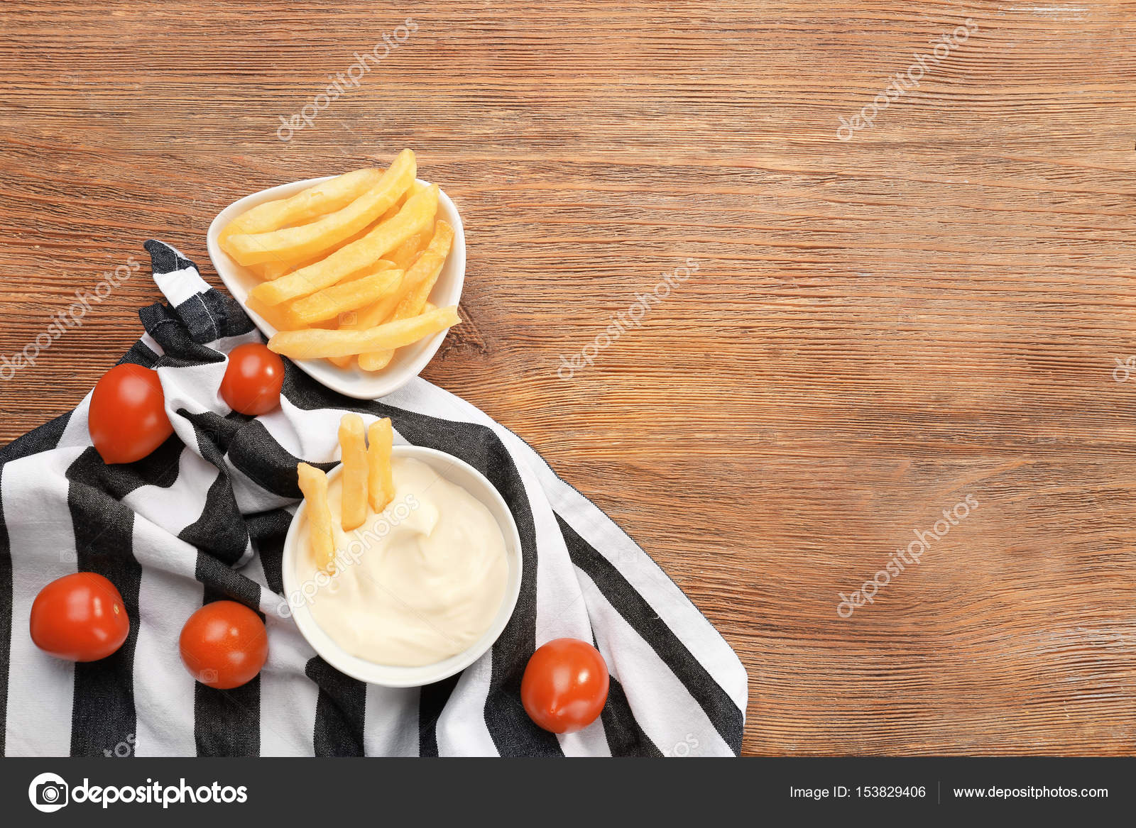 Composition With Tasty Mayonnaise Sauce On Wooden Table Photo By Belchonock
