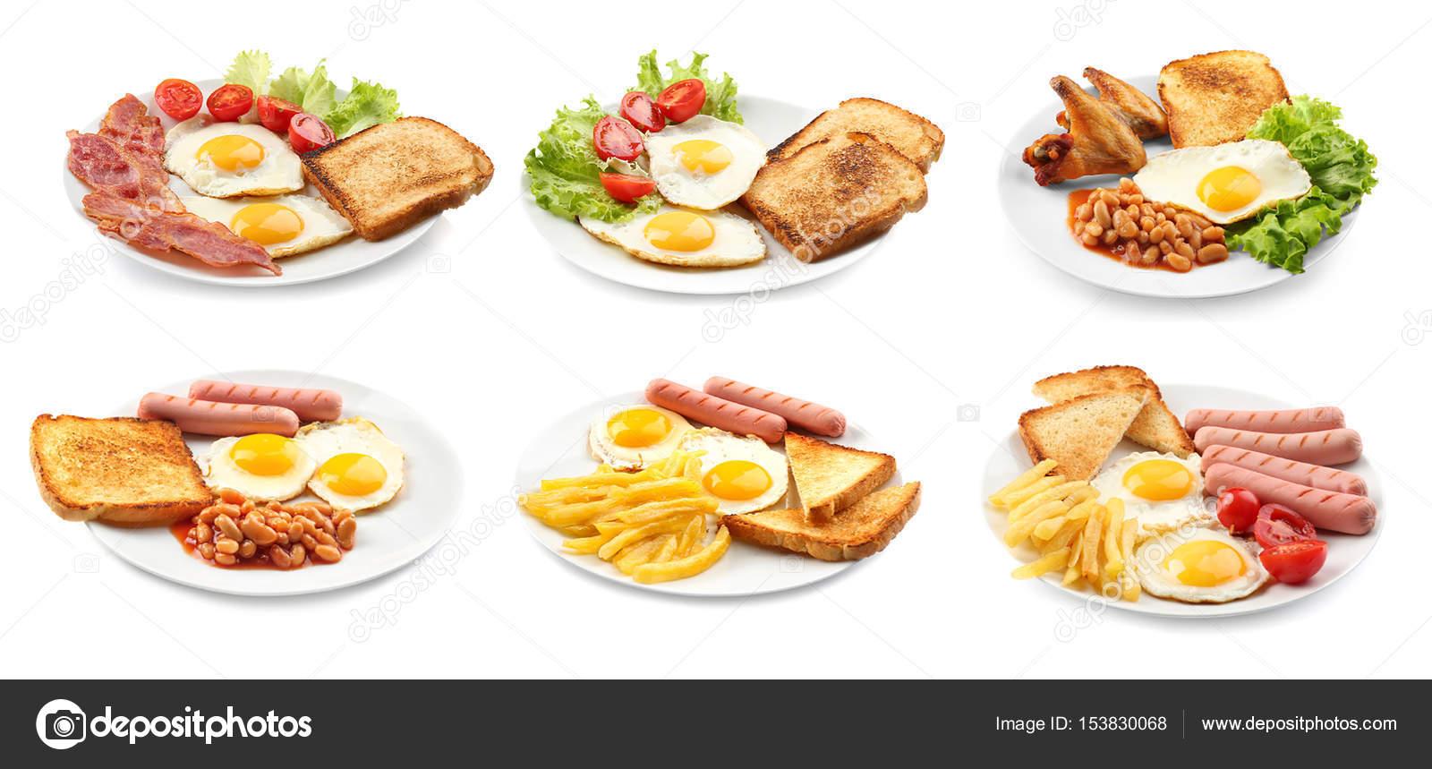 Ideen für Frühstück mit Eiern — Stockfoto © belchonock #153830068