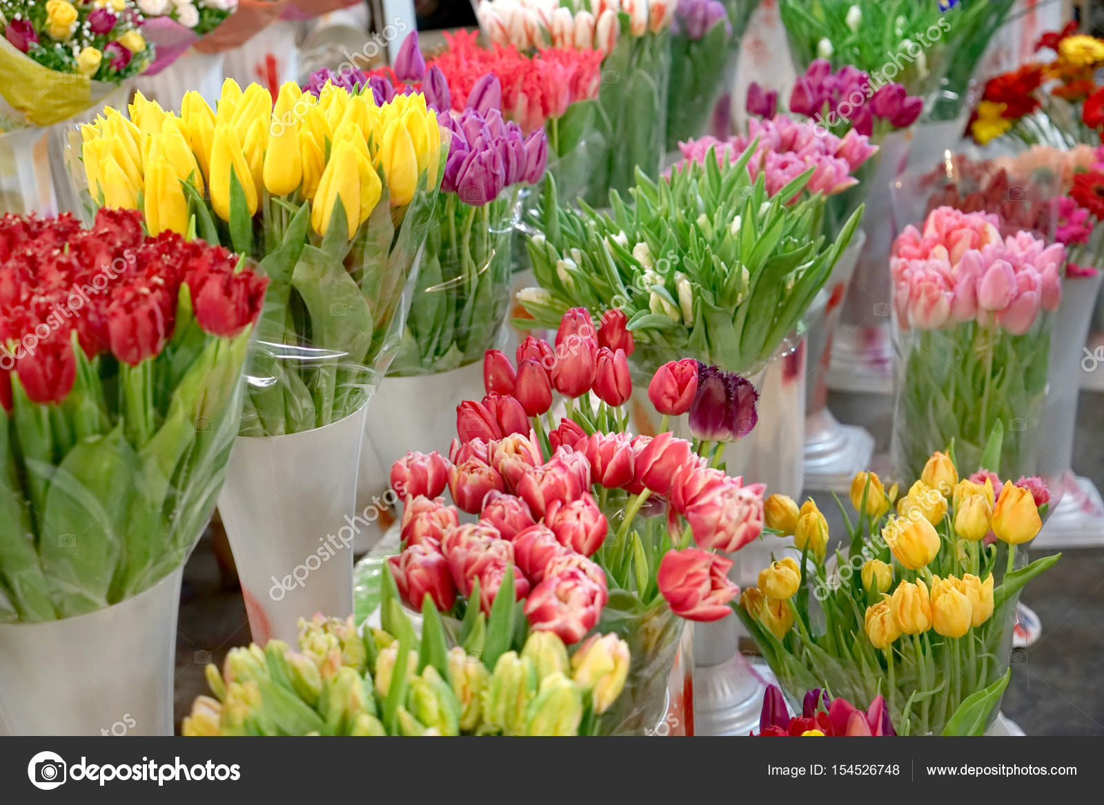 Assortment of beautiful flowers stock photo belchonock 154526748 assortment of beautiful flowers at floral shop photo by belchonock izmirmasajfo
