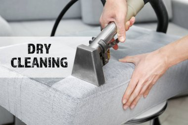 Concept of dry cleaning service.