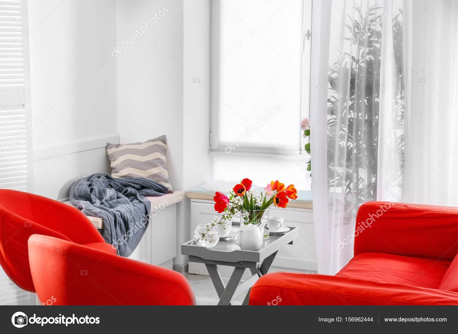 Style De Veranda Moderne interior of modern veranda — stock photo © belchonock #156962444