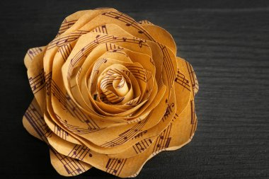 Rose made of music notes