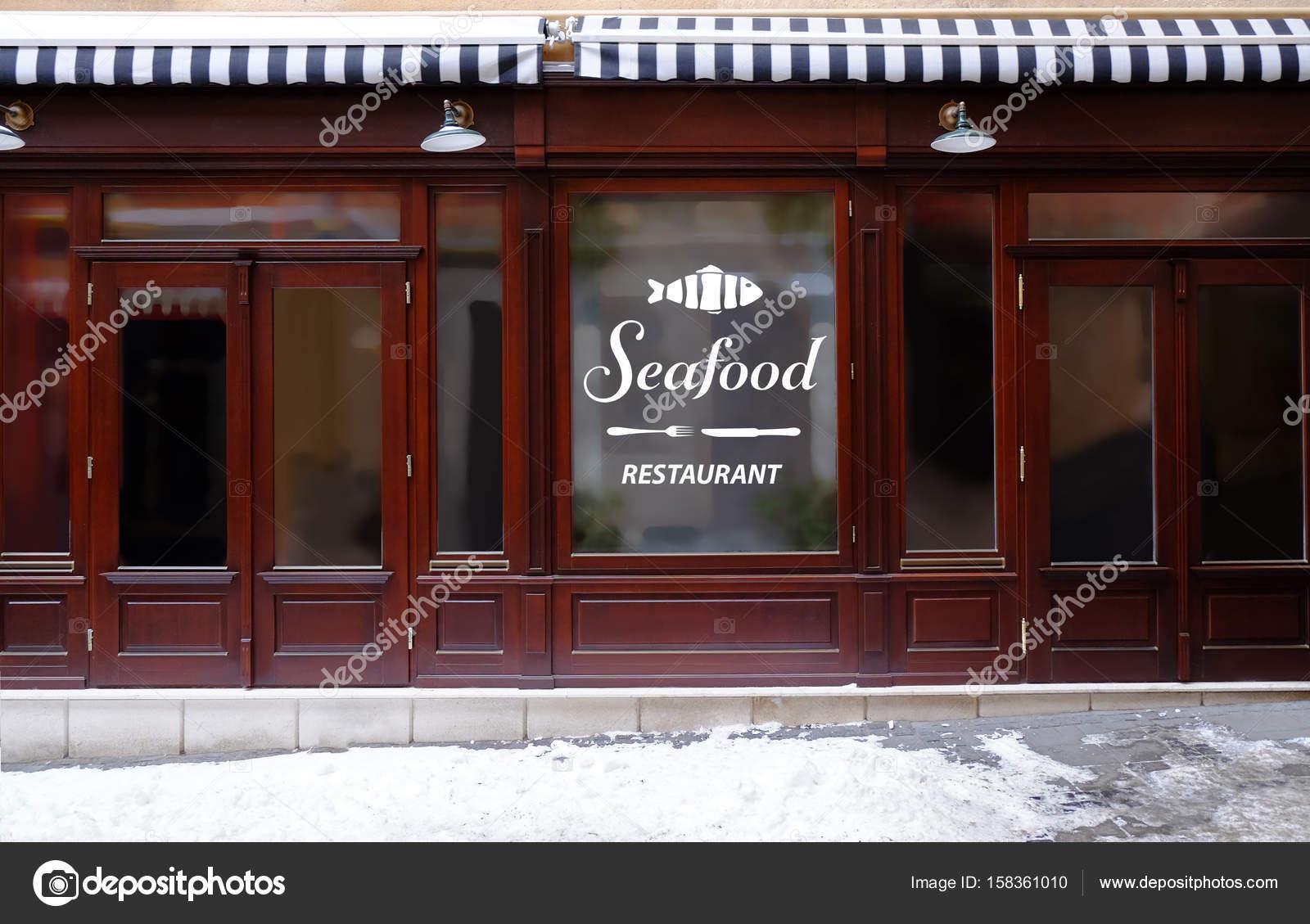 Design moderne de l\'extérieur du restaurant fruits de mer ...