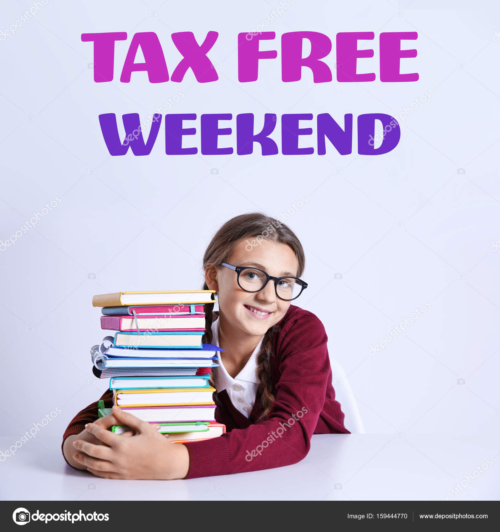 are textbooks tax free on tax free weekend