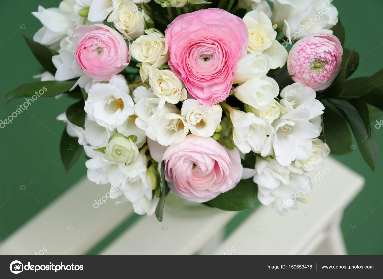Bouquet with freesia flowers stock photo belchonock 159653478 beautiful bouquet with white freesia flowers closeup photo by belchonock izmirmasajfo Gallery