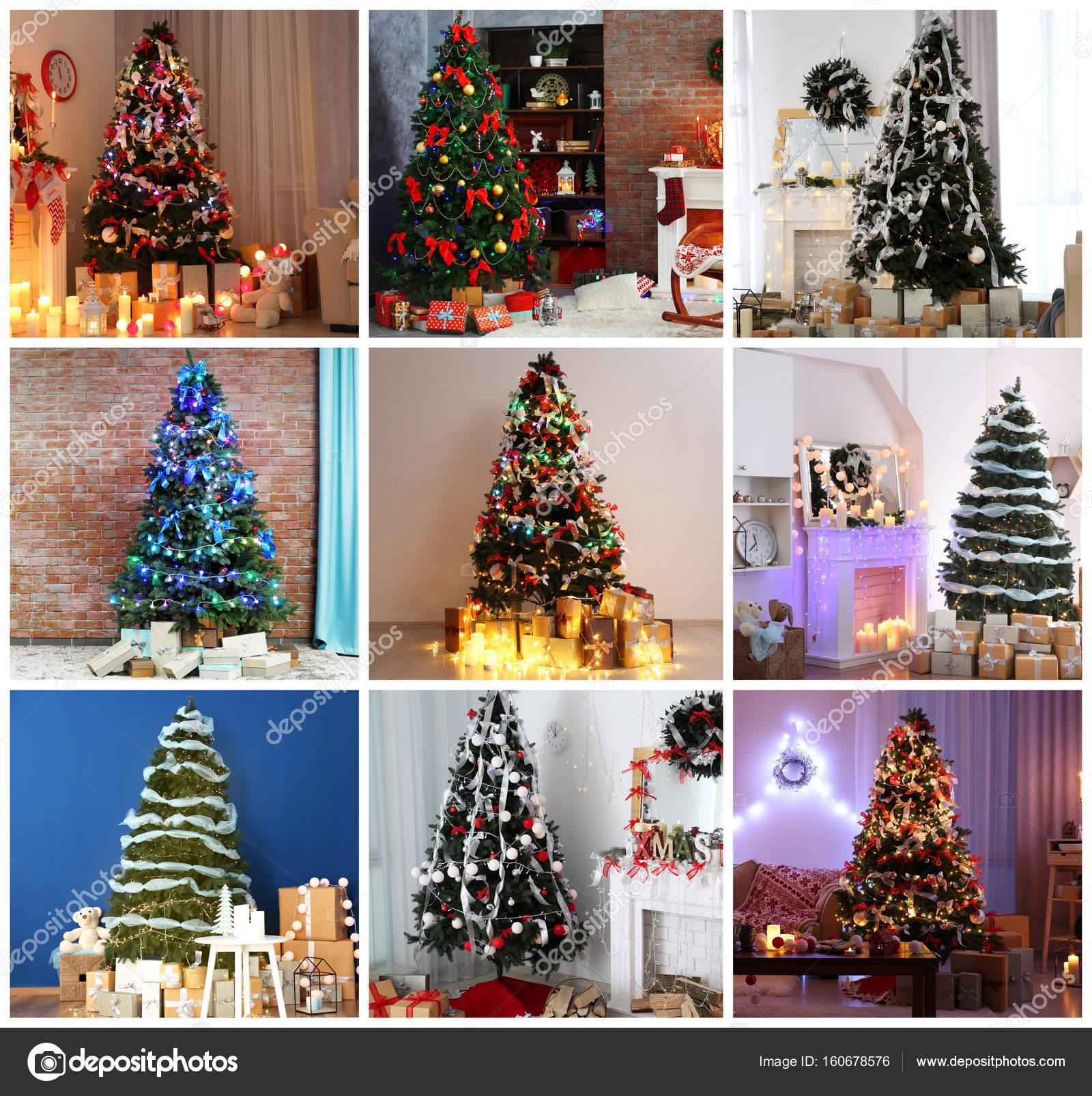 Alberi Di Natale Bellissimi Immagini.Immagini Collage Natale Collage Di Bellissimi Alberi Di