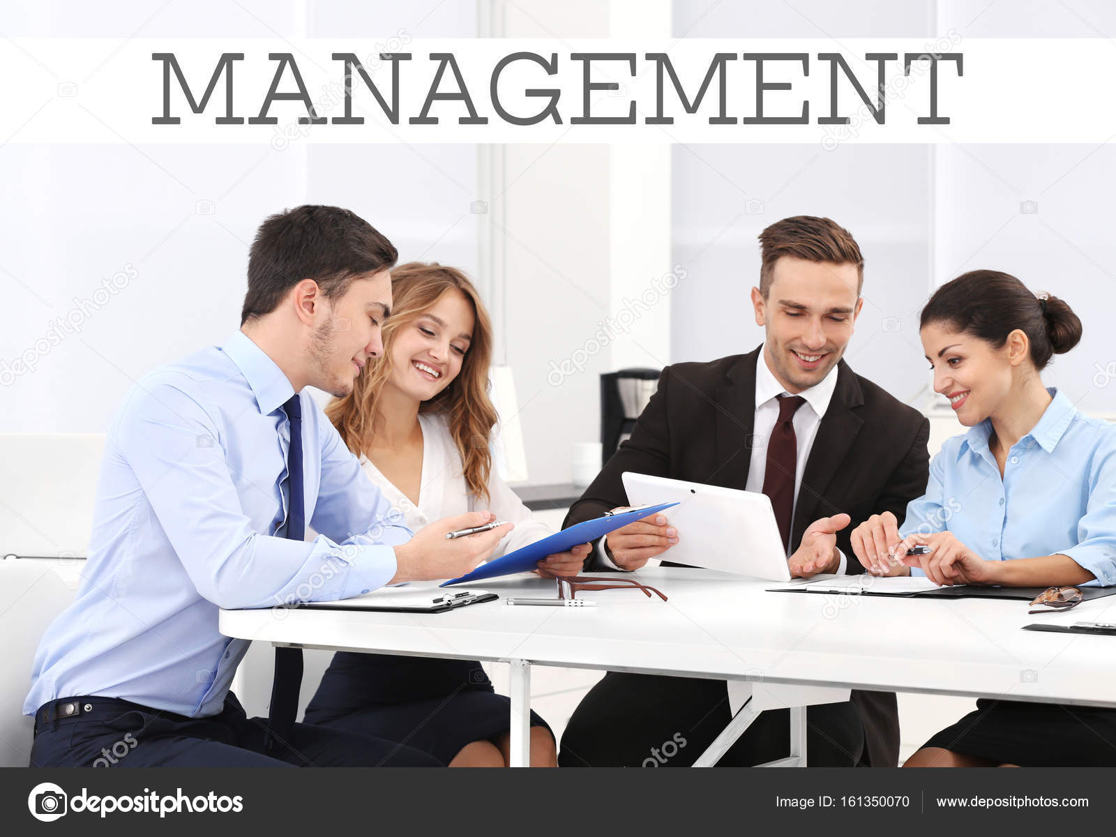 Management Concept People On Business Meeting In Office