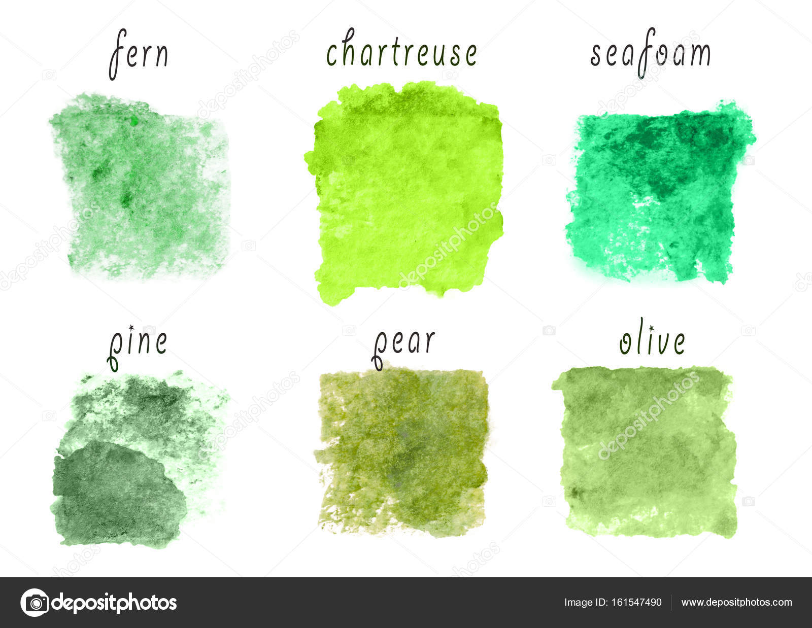 Samples of green color palette — Stock Photo © belchonock #161547490