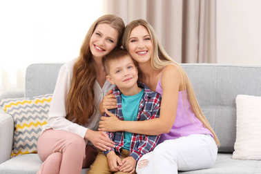 Female couple with foster son