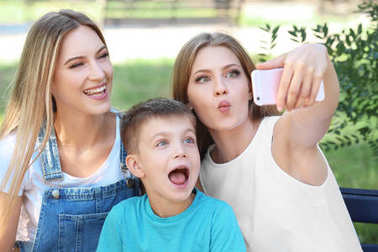 Lesbian mothers with foster son