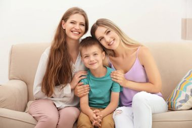 lesbian couple with foster son